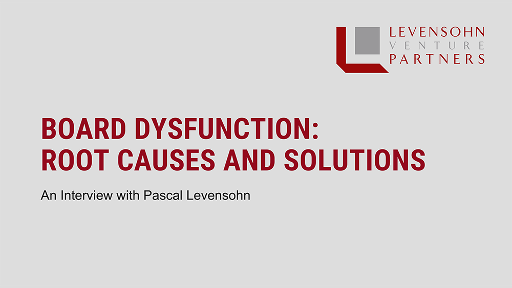 Video-title: Board Dysfunction: Root Causes and Solutions